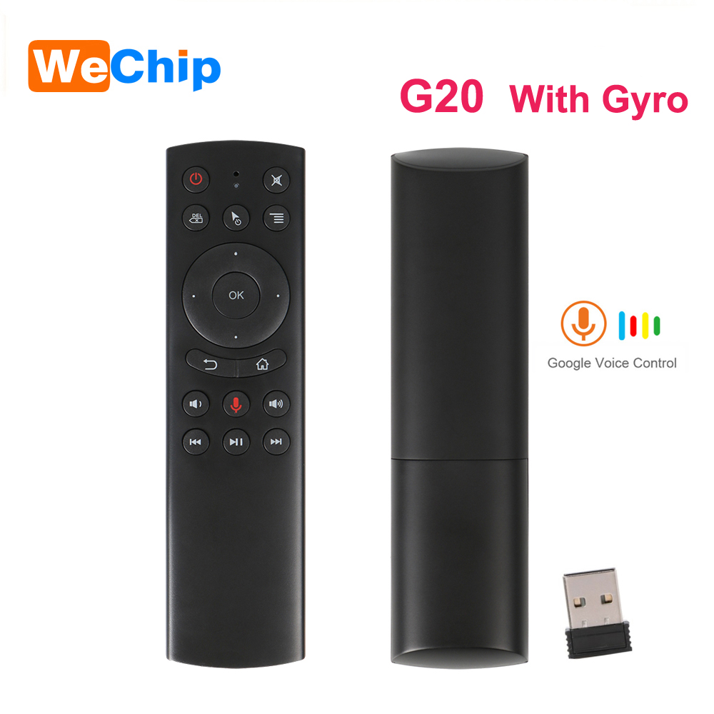 Wechip G20S 2.4G Wireless Air Mouse Gyro Voice Control Sensing Mini Keyboard G20 Remote Control For Mini PC Android TV Box