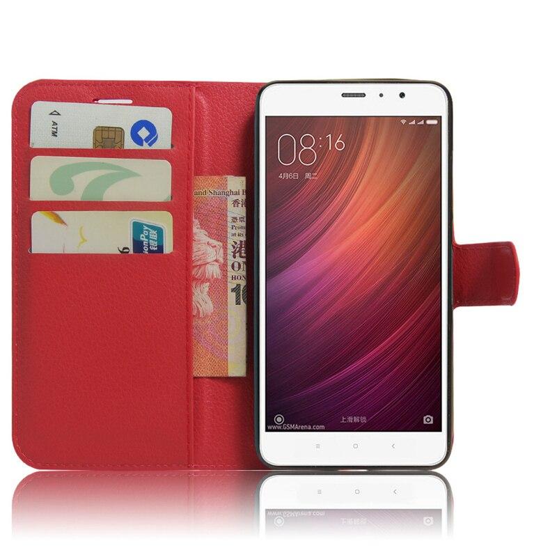 Accesorios del teléfono para xiaomi redmi note 4 case pu cuero bolsas cubierta d