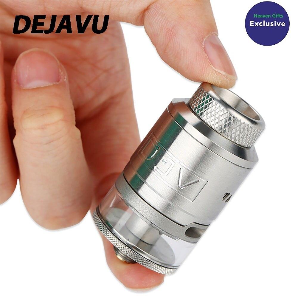 Nouveau Original DEJAVU RDTA 2 ml atomiseur avec double bobines bâtiment et conception étanche 25mm RDTA Vape réservoir Vs Manta RTA/Zeus double