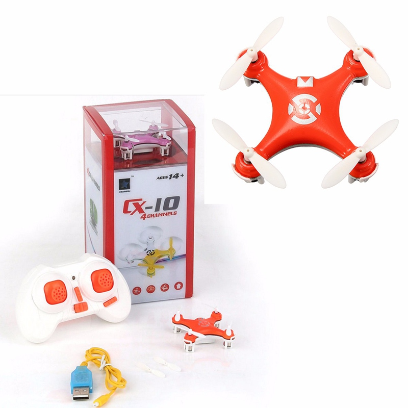 Cheerson CX-10 CX10 RC Quadcopter 4-CH 2.4GHz 6-Axle Gyro Mini Drone Helicopter Mode 1 Mode2 цена 2017