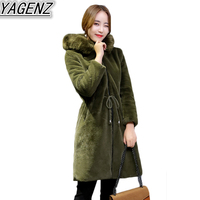 Large Size Winter Faux Fur Coat Women S 2018 Fashion Sheep Shearing Fur Coat Women Thicken
