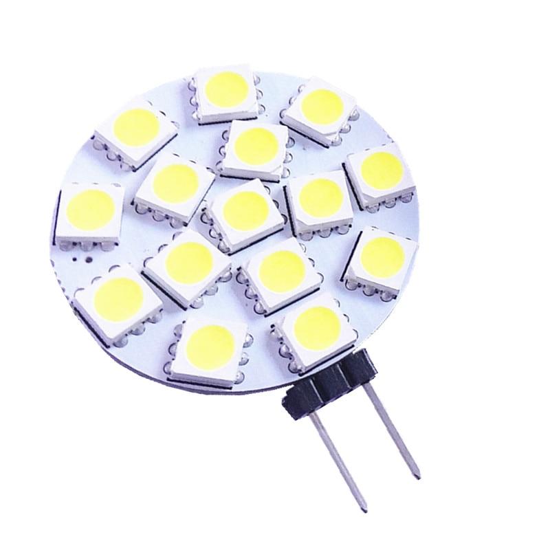1PCS Free Shipping 3W G4 LED 5050 SMD 15leds 180 Degree Warm White LED Boat Light Bulb Lamp AC/DC 12V 24V DC G4 Spotlight Lamp