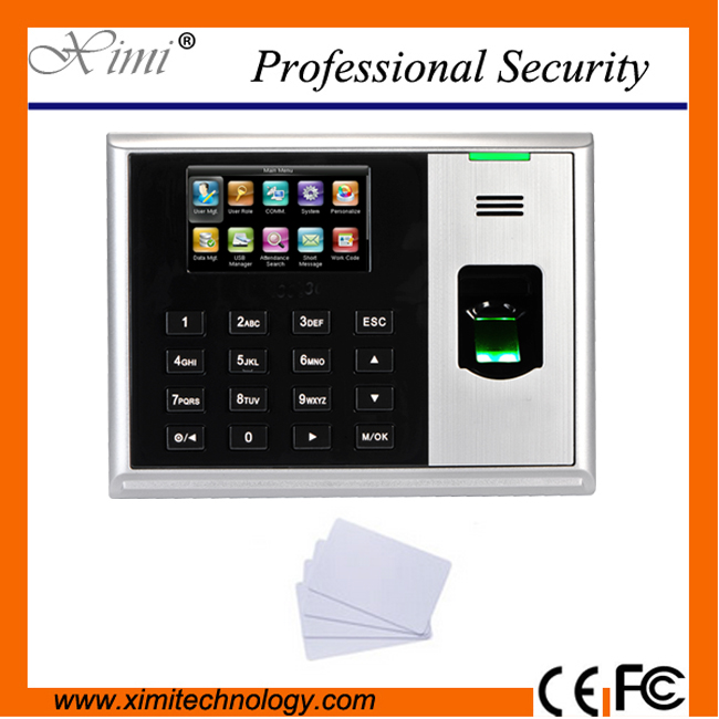 TCP/IP USB fingerprint time and attendance systems 3 inch color screen with MF card reader zk hot device S30 time attendance недорго, оригинальная цена