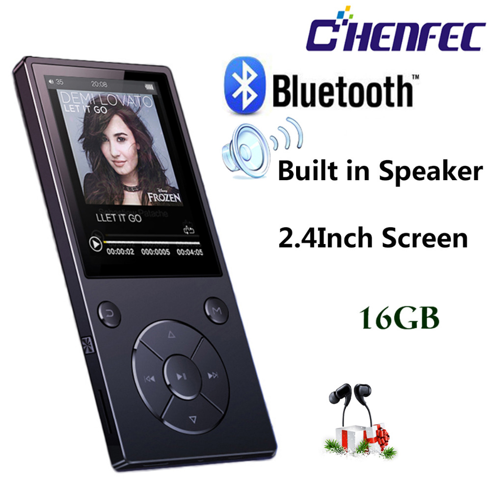 MP3 Player with Bluetooth4 2 Speaker 2 4Inch Screen metal hifi music