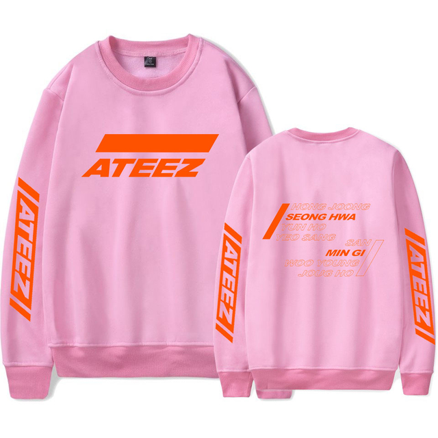FADUN TOMMY ATEEZ Women and Men Casual Clothes 2019 Hot Sale Capless Long Sleeves Hoodies Sweatshirts Print Kpops Plus Size 4XL