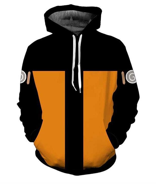 2018 new fashion Cool sweatshirt Hoodies Men women 3D print yellow NARUTO UCHIHA CLAN Tee hot Style Streetwear Long sleeve