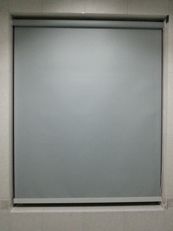 Custom Made 100 Polyester Blackout Waterproof Roller Blinds In Grey Window Curtains For Living Room