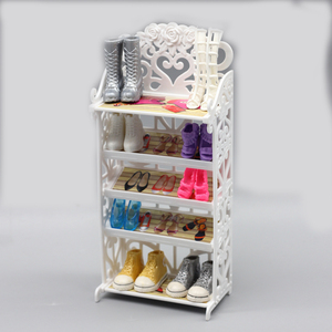 Кукольная обувь, 5-слойная стойка, мебель для дома, аксессуары для кукол Blyth barbie Licca 1/6, аксессуары для кукол, кукольная домашняя мебель