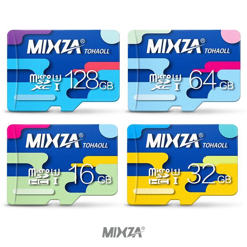 MIXZA Cartão De Memória de 128 GB 64 GB 32 GB 16 GB cartão Micro sd Class10 UHS-1 cartão de Memória flash Microsd Cartões TF/SD para o Smartphone/Tablet