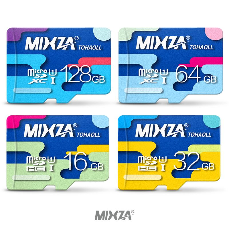 MIXZA Carte Mémoire 64 GB 32 GB Micro sd carte Class10 UHS-1 flash carte Mémoire Microsd TF/SD Cartes pour Smartphone/Tablet