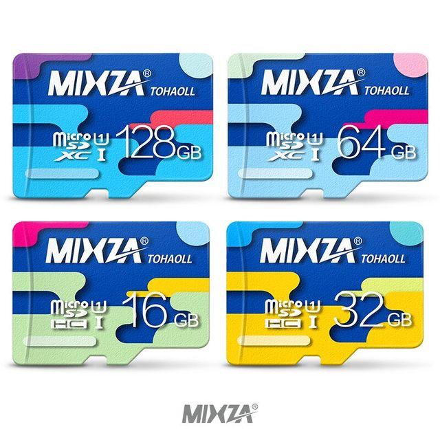 Mixza карты памяти 128 ГБ 64 ГБ 32 ГБ 16 ГБ микро SD карты Class10 UHS-1 8 ГБ Class6 флэш-карты памяти microSD для смартфонов/Планшеты
