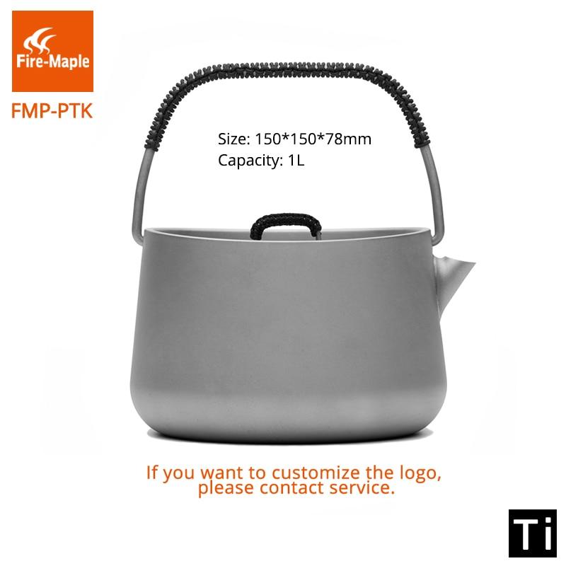 все цены на Fire Maple Titanium Coffee Tea Pot Teapot Picnic Ultralight Tea Ceremony Outdoor Camping Kettle 1L онлайн