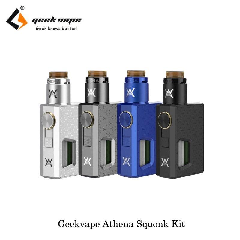 D'origine GeekVape Athena Squonk Kit Mécanique Mod Vaporisateur Kit 6.5 ml Squonk bouteille avec Squonk RDA Réservoir E Cigarette Vaporisateur vaporisateur