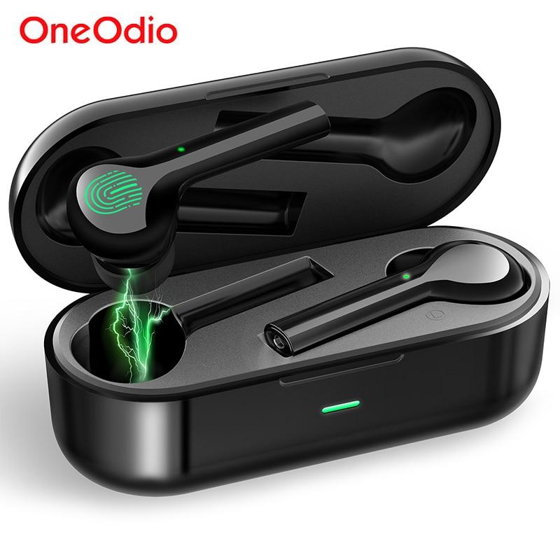 Oneodio TWS True sans fil écouteurs contrôle tactile Bluetooth 5.0 casque IPX4 étanche stéréo Mini écouteur avec micro boîte de charge