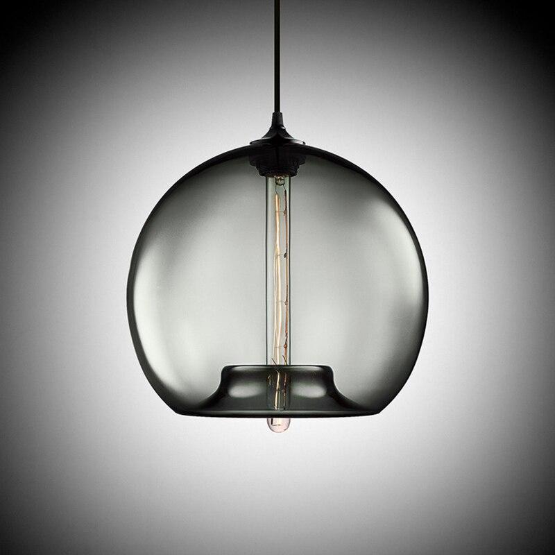 Colourful glass ball led Pendant Lamps modern e27 / e26 led lights cord pendant T225 bulb for restaurant living room cafe bar led bulb lamps e27 e26 e39 e40 5730smd