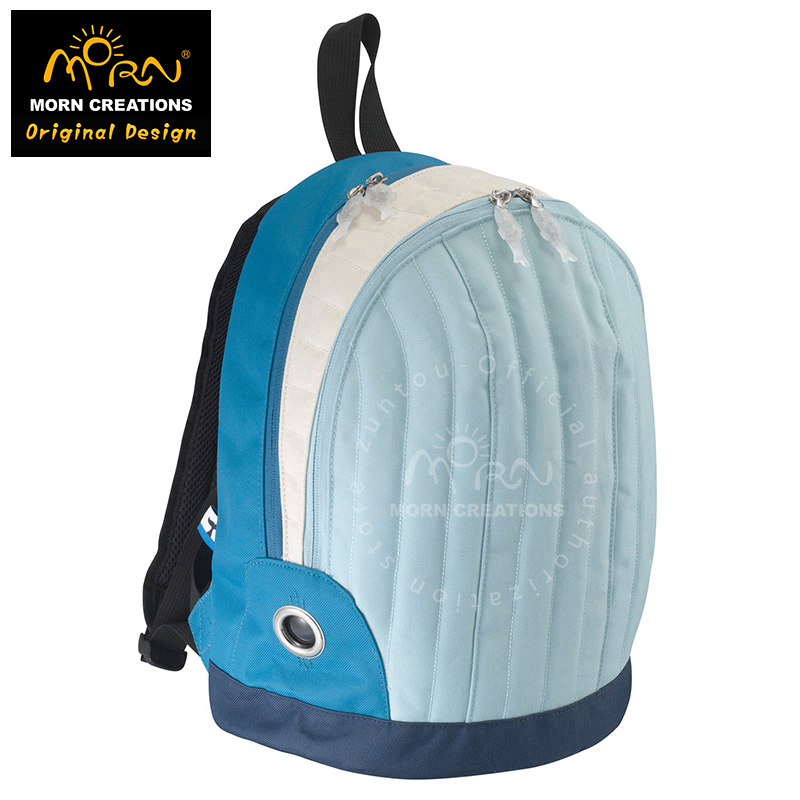 Original Designs From Hong Kong Morn Creations The Blue whale Style Backpack Medium And Small Size Blue whale Backpaks morn creations hong kong original design soft handle panda backpack blue laptop school bags