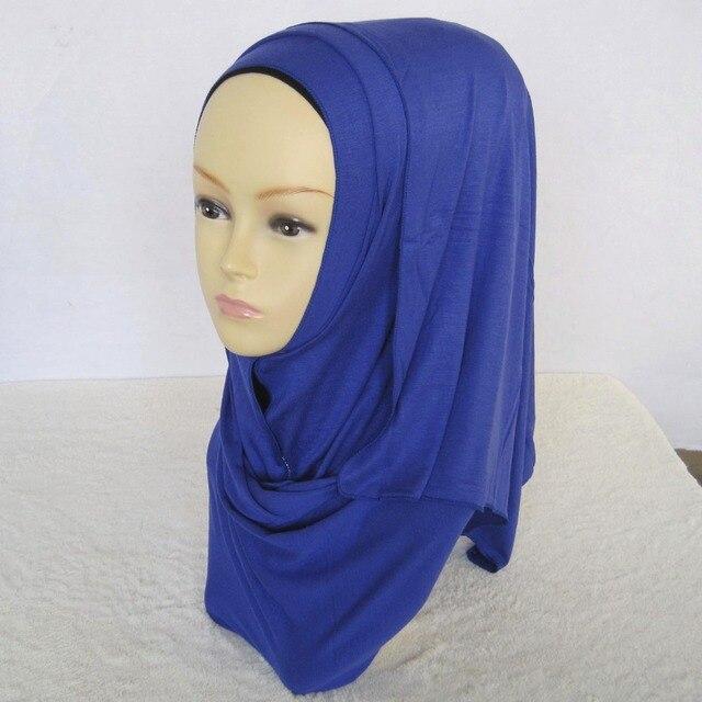 Camisa turbante lycra de algodão puro longo xale muçulmano dubai abaya  niqab islâmico árabe cachecol hijab ccb4e6c50b1
