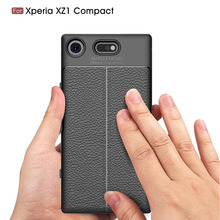 for Sony Xperia XZ1 Compact Case Silicon For Sony Xperia XZ1 Case Cover Fundas Soft Carbon Fiber Brushe Coque Etui Capa Aksesuar цена и фото