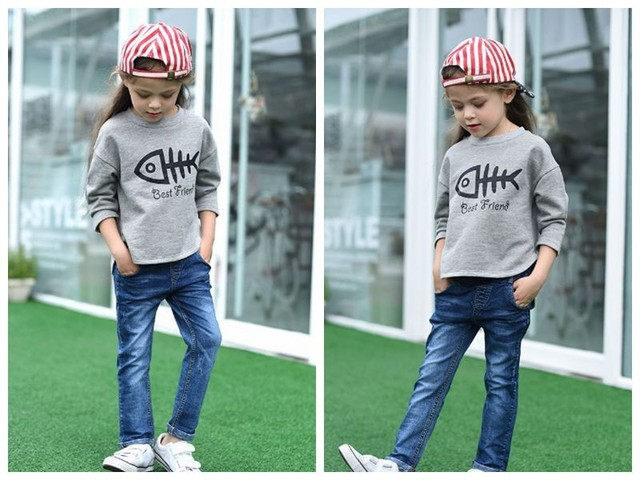 New Arrival Baby Boys Girls Cotton Denim Jeans Kids Spring Autumn Denim Jeans Child Casual Long Pants  Boys Girls Trousers