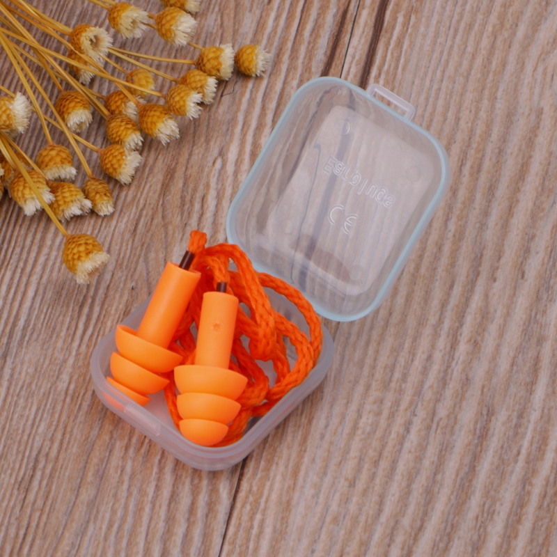 Soft Silicone Wired Ear Plugs Noise Reduction Caps Earmuffs Hearing ProtectionSoft Silicone Wired Ear Plugs Noise Reduction Caps Earmuffs Hearing Protection