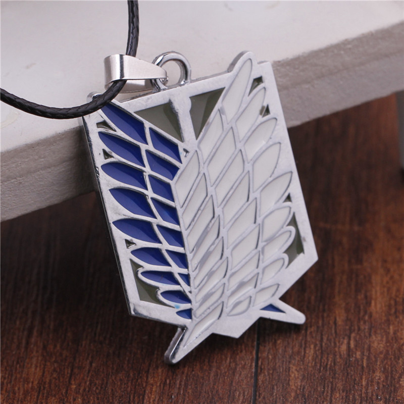 1pcs Fast Shipping Good Quality Attack On Titan Survey Corps Symbol Alloy Necklace With font b