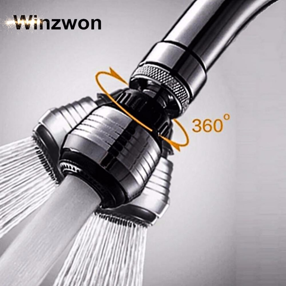 Kitchen Faucet Shower Head 360 Degree Rotatable Water Saving Tap Aerator Bubbler Connector Diffuser Faucet Nozzle Filter Adapter