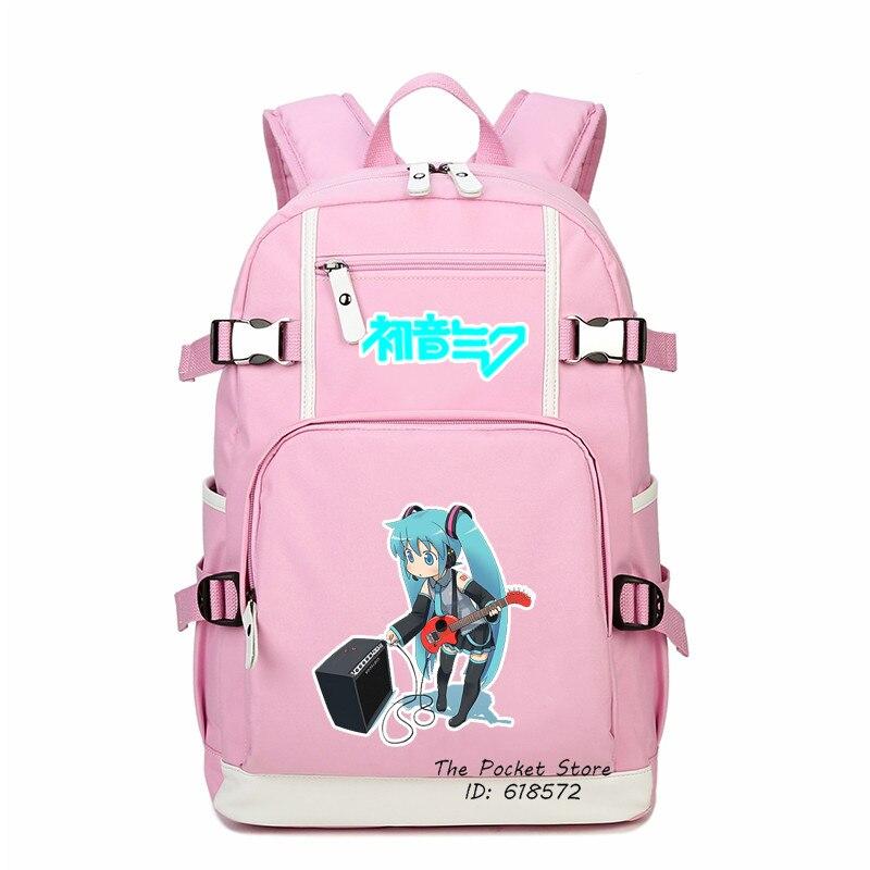 High Quality Fashion Women Backpack Hatsune Miku Printing Backpack Kawaii School Bags Canvas Laptop Backpack Girl Travel Bags fashion high quality vocaloid hatsune miku canvas backpack anime women grils boys cosplay laptop school bag