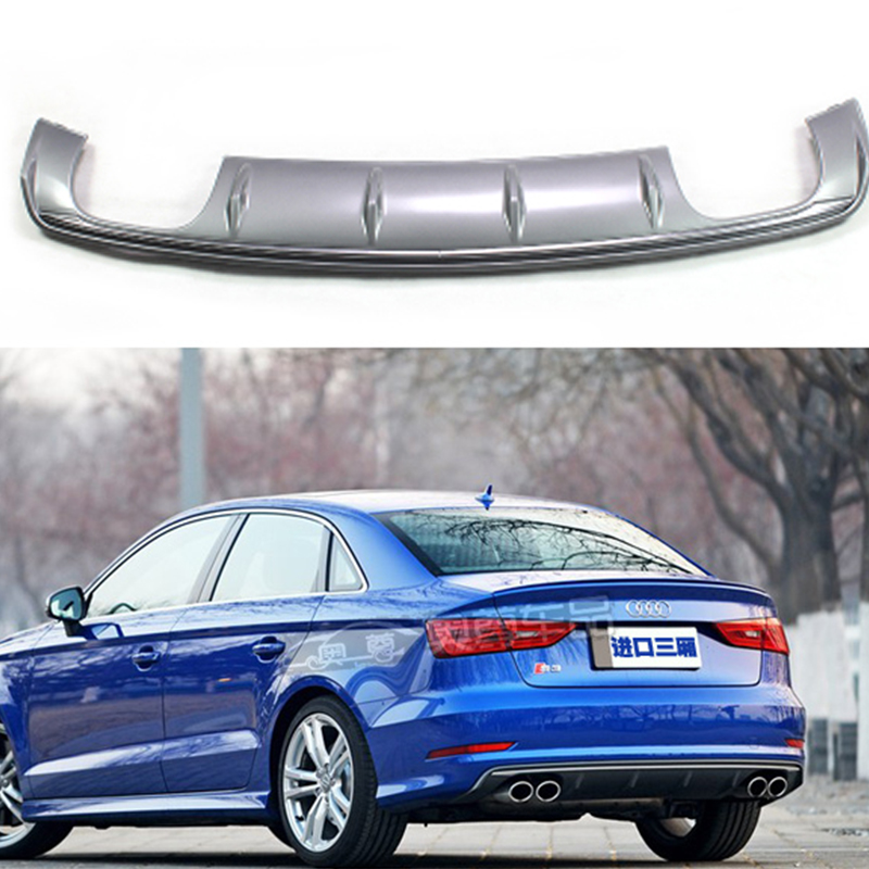 <font><b>A3</b></font> S3 Style Gray PP Auto Car <font><b>Rear</b></font> Bumper Lip <font><b>Diffuser</b></font> for <font><b>Audi</b></font> <font><b>A3</b></font> 2014-<font><b>2016</b></font> Only image