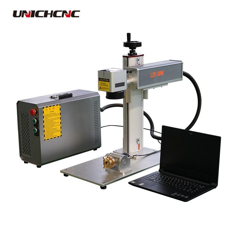Fabricant de machine de marquage Unich marquant la règle d'acier inoxydable 20 w raycus