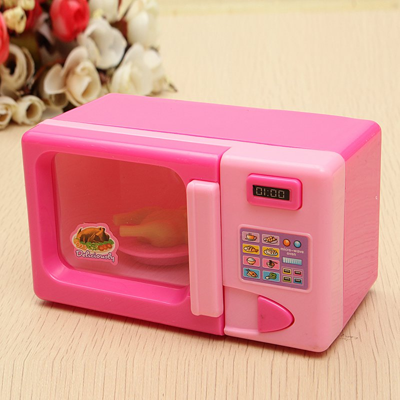 Children Kid Mini Cute Pink Microwave Oven Pretend Role Play Toy Educational For Playing Kitchen Toys In From Hobbies On