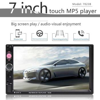 Car Universal Double Ingot Car 7 Inch Bluetooth Call MP5 Player Reversing Image Apple Interconnect Touch Resistance Screen image