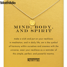 Mind Body and Spirit Om Symbol Necklace Gold Dipped  Necklace Clavicle Chain Statement Necklace Women Jewelry E014