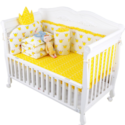 Kształt korony dziecko poduszka na łóżko Super miękka noworodka chłopiec dziewczyna łóżeczko zderzaki zestaw z blachy 5 sztuk/zestaw ciepłe dziecko pościel dla dzieci zestaw gorąca sprzedaż