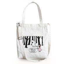 Summer New Hot Fashion Women Female Canvas Bag Shoulder Bags Japanese Korean Casual Cute Print Shopping