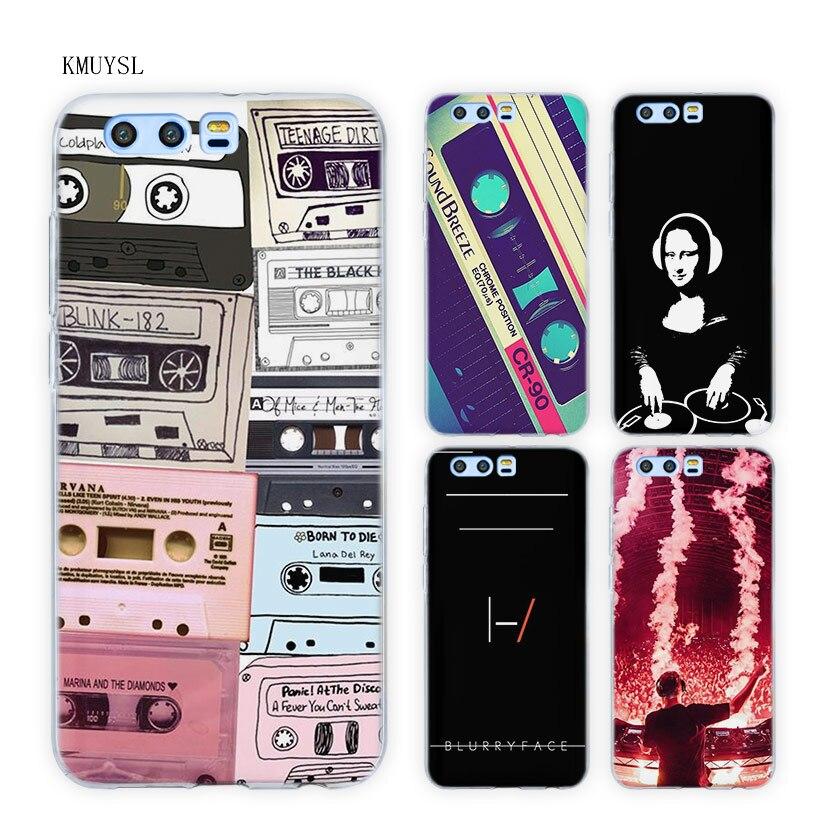 KMUYSL dj music art TPU Transparent Soft Case Cover for Huawei Honor 9 8 Lite 7X 6A 6X 6C Pro 10