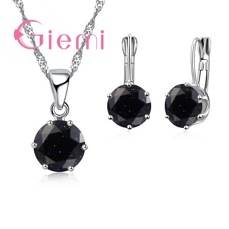 Giemi New Fashion Mewah Perhiasan CZ Set 925 Sterling Silver Earring - Perhiasan fashion - Foto 6