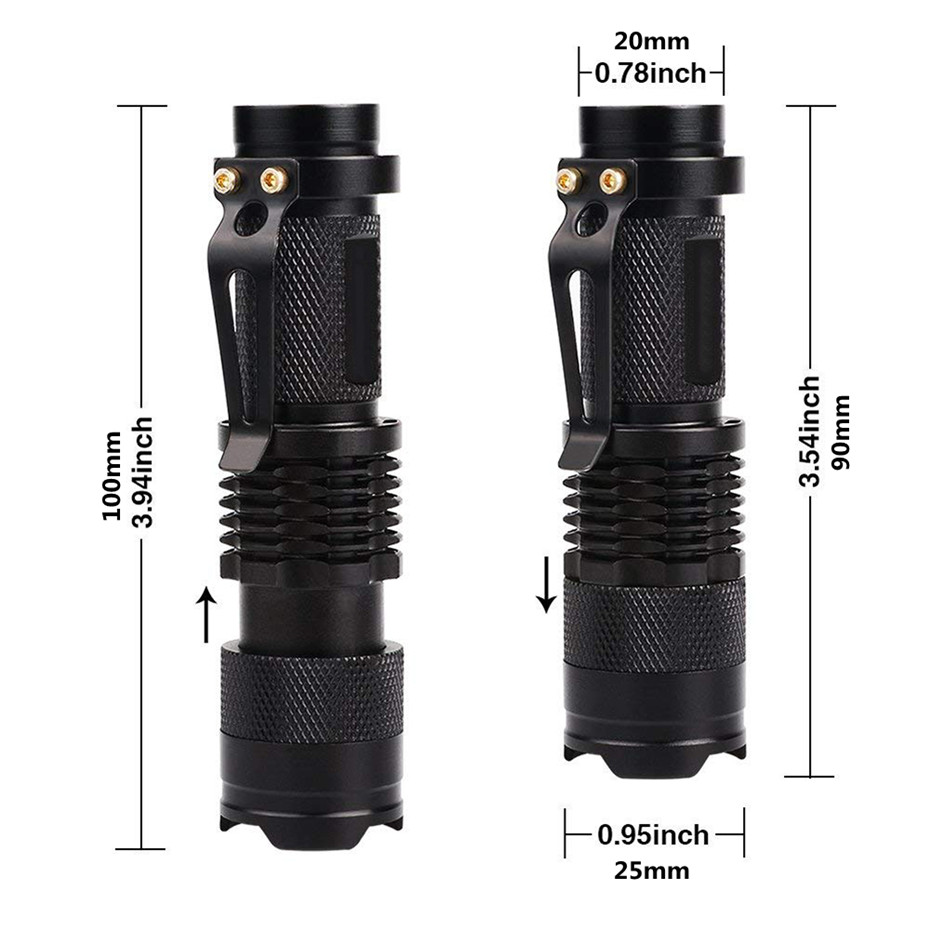 LED UV Flashlight Ultraviolet Torch With Zoom Function Mini UV Black Light Pet Urine Stains Detector Scorpion Hunting 2