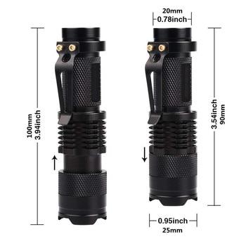 LED UV Flashlight Ultraviolet Torch With Zoom Function Mini UV Black Light Pet Urine Stains Detector Scorpion Hunting 3