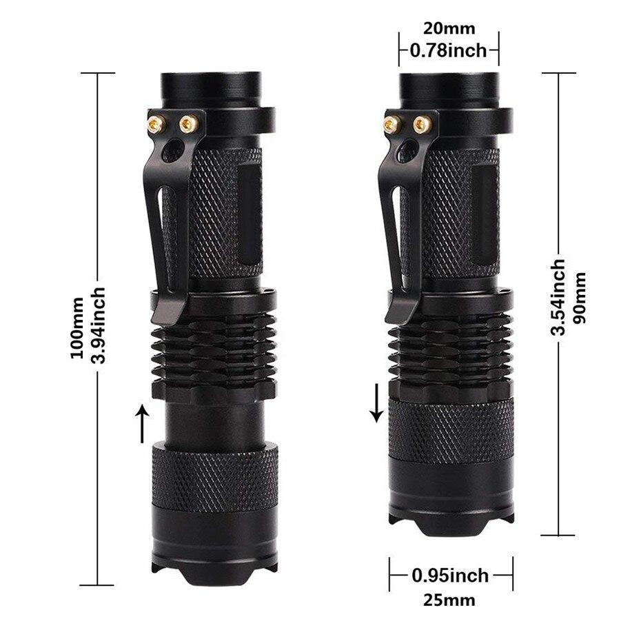 Image 3 - Linterna de LED UV luz ultravioleta con función de Zoom Mini UV luz negra Detector de manchas de orina de mascotas Scorpion HuntingLinternas y antorchas   -