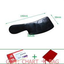 High quality! Wholesale & retail knife shape big size thicken buffalo horn massage guasha board beauty face Scrapping kit