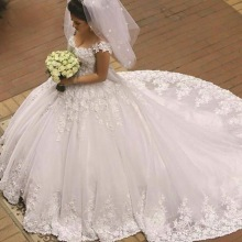 kejiadian Wedding Dresses Ball Gown Cap Sleeve Floor Length
