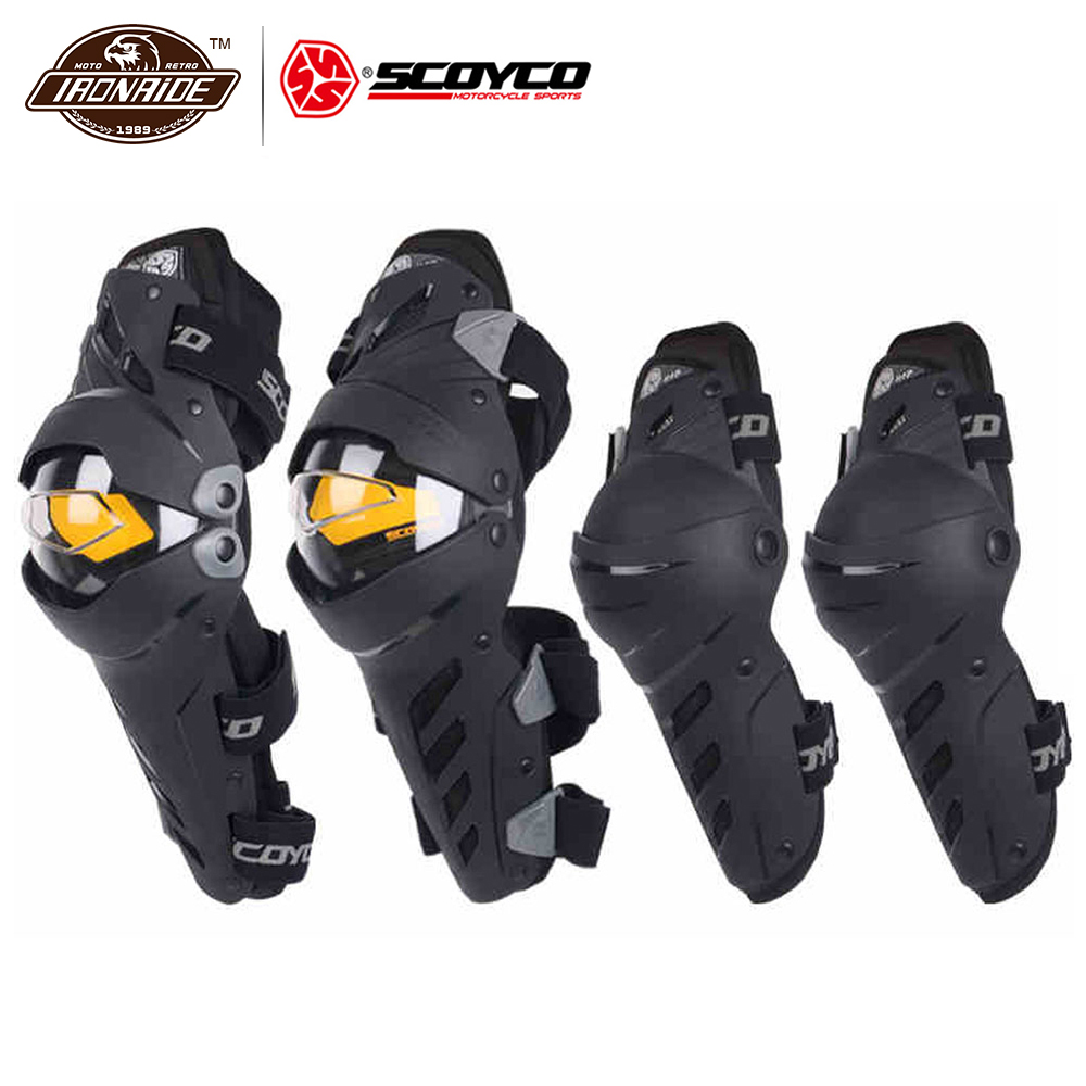 SCOYCO Motocross Knee Pads Motorcycle Knee Protector And Elbow Protector Outdoor Sports Motorcycle Equipment pro biker motocross knee motorcycle protection moto knee pads motorsiklet dizlik knee protector motorcycle and motorcycle elbow