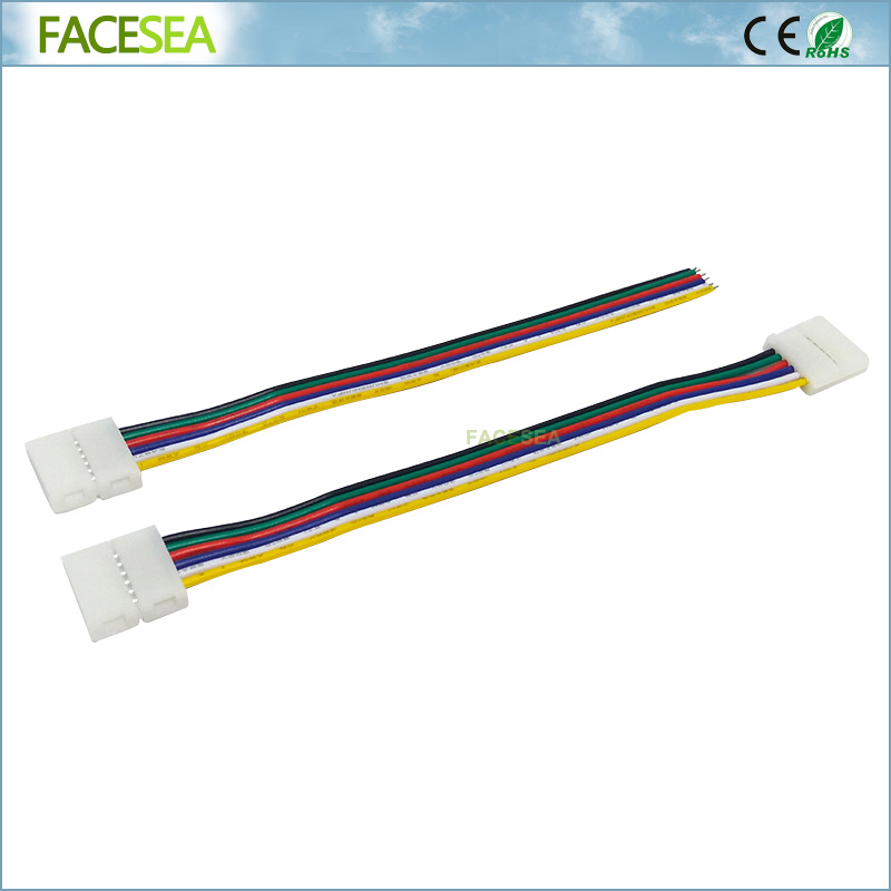 100pcs/lot 12mm 6pin RGBWW CCT LED Connector Wire cable PCB free welding 15cm for LED Flexible Strip 10pcs 5 pin led strip wire connector for 12mm 5050 rgbw rgby ip20 non waterproof led strip to wire connection terminals