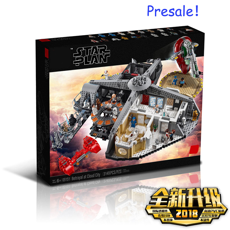 New Star Plan Wars Betrayal at Cloud City set Compatible With Legoing Starwars 75222 Building Blocks Bricks Toys Christmas Gift mylb new 499pcs new star wars at dp building blocks toys gift minis rebels animated tv series compatible drop shipping