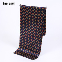 Paisley print cravat silk Scarf luxury brand men f