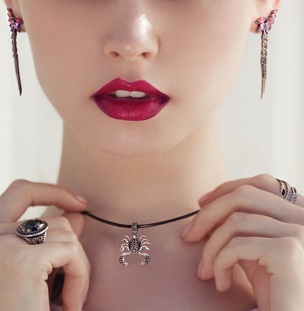 2018 New Arrival 925 Sterling-silver-jewelry original Scorpion Necklaces for Women Gold Silver Necklace for beautiful lady gifts