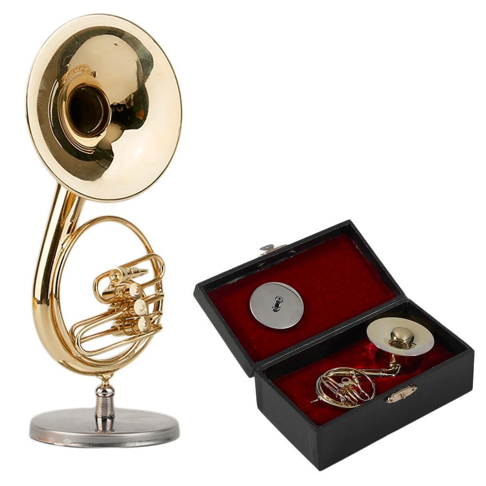Musical instruments ornaments - Golden Mini Sousaphone Small Size Music Instrument Ornament Music Model Miniature Sousaphone Instrument Model Best Gift
