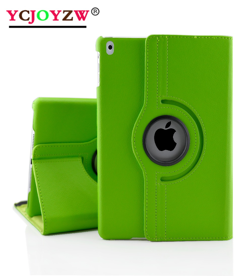 PU Leather Case For Ipad Pro 9.7 : A1673`1674`A1675 ,Lichee Grain 360 Degree Rotate Full Body Protective Cover Flip-YCJOYZW
