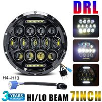 CO LIGHT 1PCS 7 Inch 75W Round Led Headlight H4 Auto Motorcycle Projector For Jeep Harley