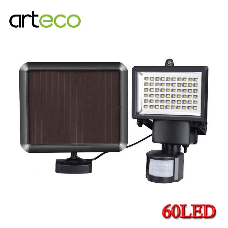 Super Bright 60LEDs Solar Light PIR Motion Sensor Solar Lamp Waterproof Outdoor lighting Garden Security Floodlight Wall Lamp цена и фото